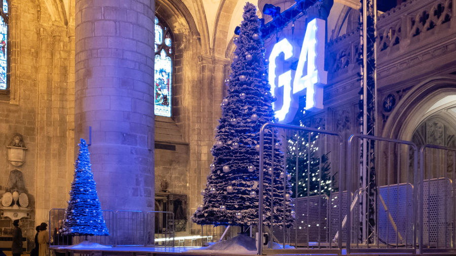 Architecture Illuminated Building Christmas G4 Gloucester Cathedral