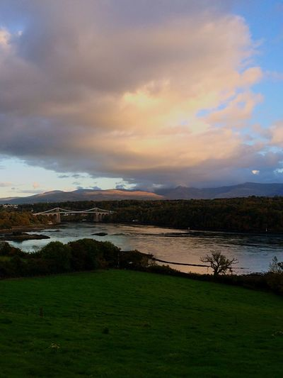 Menai Bridge and the lovely Menai Straights Anglesey MenaiBridge MenaiStraights 🍃🍂