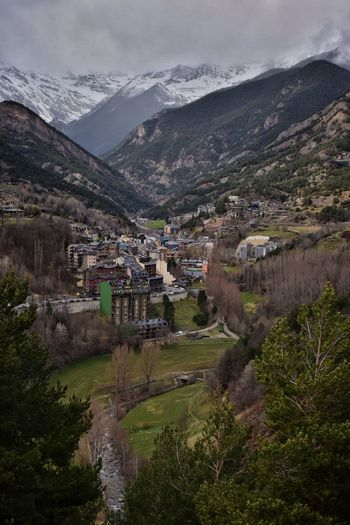 View from the Church of Sant Cristofol D'Anyos Andorra Mountain View Mountain Village Mountain Architecture Building Mountain Sky Building Exterior Plant City High Angle View Valley Village