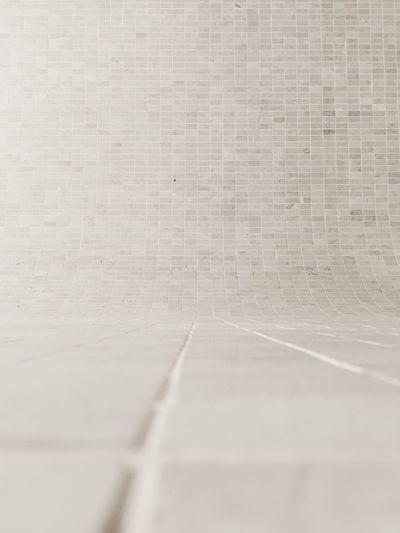 Full frame shot of tile wall in restroom