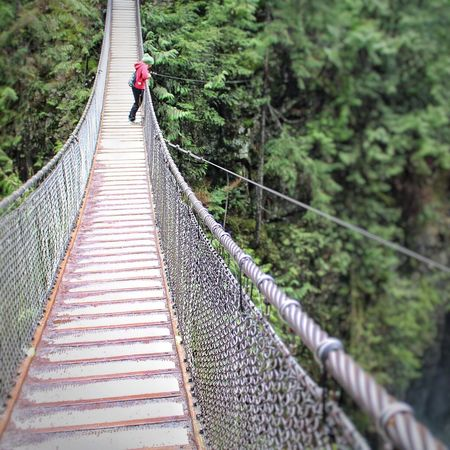 Rope Bridge Lifestyles Leisure Activity Nature Connection Day Outdoors Beauty In Nature One Person People Adult The Great Outdoors - 2017 EyeEm Awards The Great Outdoors - 2018 EyeEm Awards
