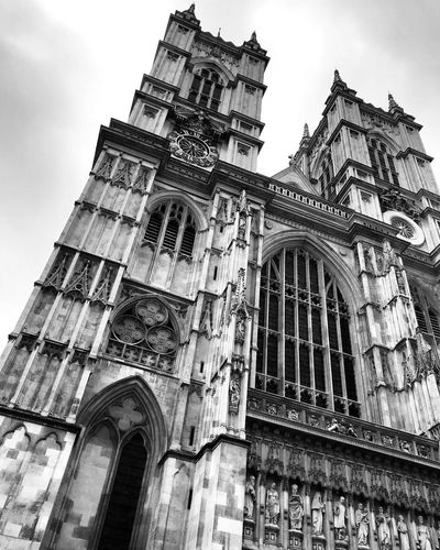 Blackandwhite London Low Angle View Religion Architecture Building Exterior Spirituality Place Of Worship Built Structure Travel Destinations Sky Day History No People Outdoors