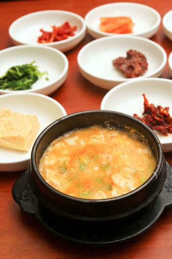 Korean tofu stew - Sondubu jjigae ASIA Banchan Cuisine Culinary Food Jjigae Korea Korean Meal Side Dish Soup Stew Sundubu Jjigae Tofu Tour Tourism
