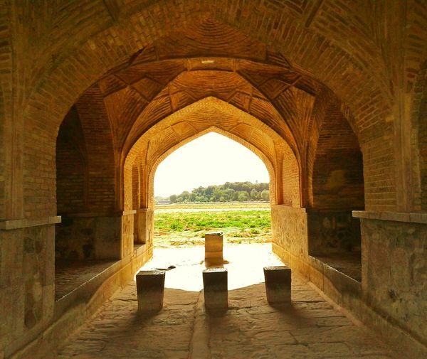 Isfahan Iran Siosepol Bridge Architecture