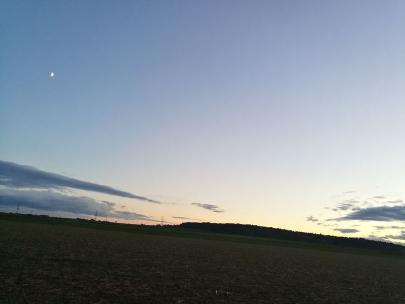 Sky Outdoors Nature Beauty In Nature Landscape No People Moon Bietigheim-Bissingen No Filter, No Edit, Just Photography