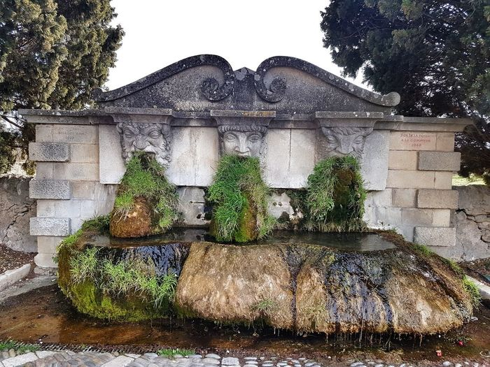 Provence Luberon Fountain Lourmarin Tree Greenhouse Sky Architecture Building Exterior Built Structure