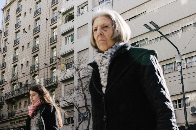 Don't stare at me like that, Recoleta, Buenos Aires. Architecture Women Senior Adult Building Exterior Adult Built Structure Two People Senior Women Togetherness City Clothing Family Females Child People Standing Warm Clothing Emotion Scarf White Hair Hairstyle EyeEm Selects EyeEm Best Shots Streetphotography #buenosAires