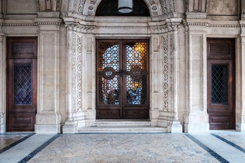 Architectural Column Architecture Building Exterior Built Structure Classic Architecture Day Door Doors Doorway Entrance HDR History Marble No People Opera House Ornate Outdoors Reflecting Door Reflections Tourist Attraction  Travel Destinations Vienna Vienna Opera