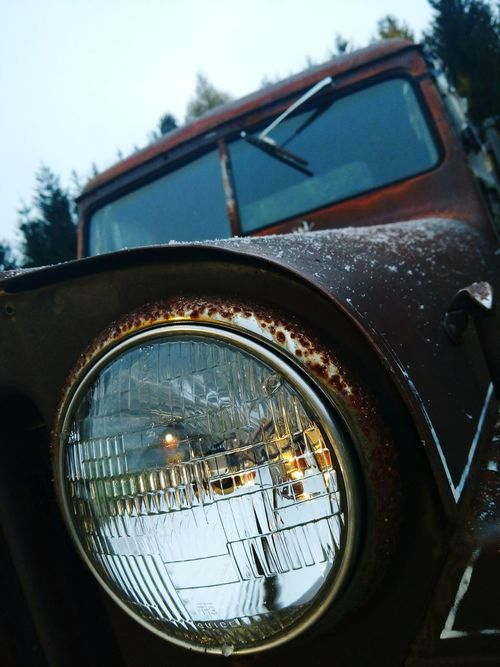 First snow of the year No People Day Outdoors Jeep Willys Close-up 1940's 1948 Vintage Truck Antique Truck Front End Willys Jeep EyeEmNewHere Quiet Moments NY Nostalgia Peaceful