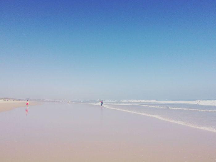 Beach Cacela Velha Portugal CacelaVelha Calm Clear Sky Coastline Horizon Over Water Sea Small Dots Tranquil Scene Tranquility Vacations Minimalism Minimal Minimalobsession Minimalist Pastel Power