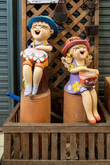 Cute clay dolls