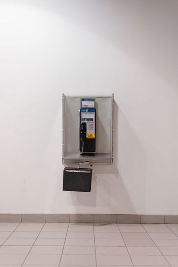 Pay phone on wall