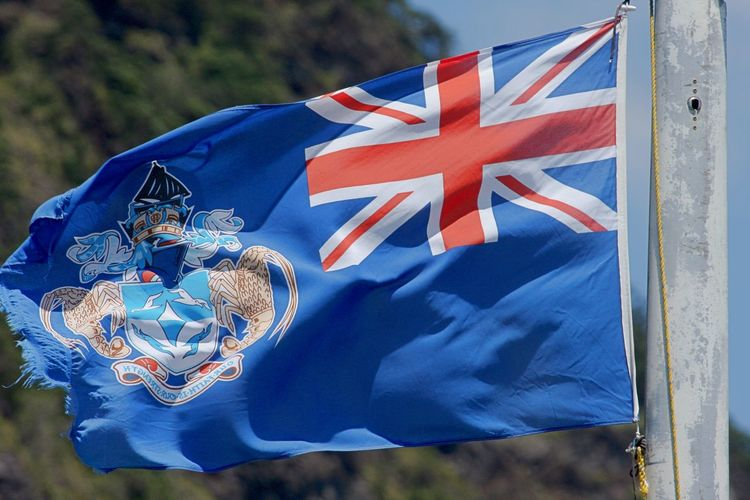 Tristan Da Cunha Tristan Da Cunha Flag Blue Close-up Day Flag Independence National Icon No People Outdoors Patriotism Pride Wind
