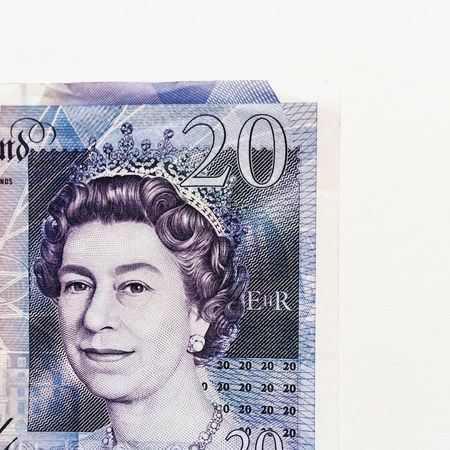 Queen Elizabeth II Queen Elizabeth  20 Twenty Pound Note Abstract Minimalist Portrait Queen Uk