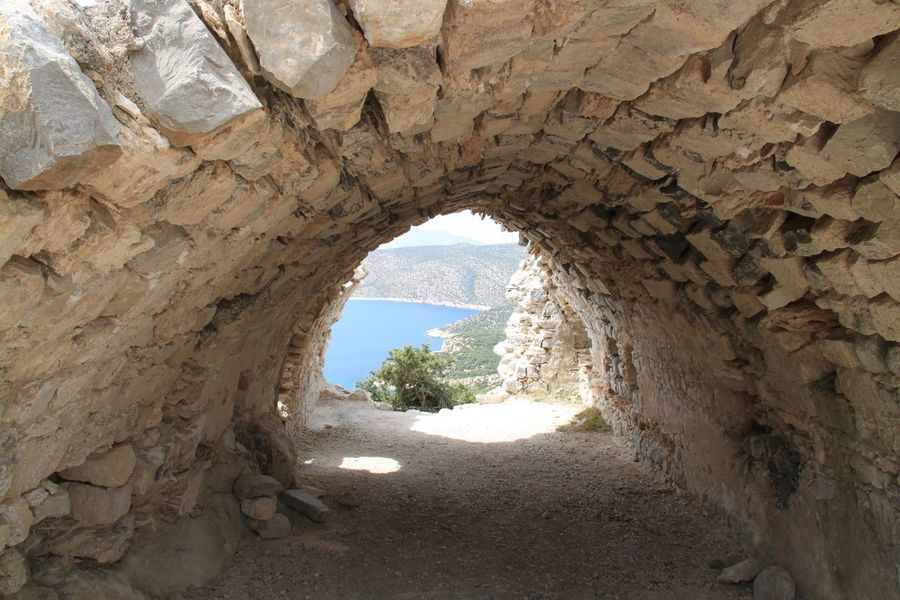 Ancient Frame It! Monolithos Rhodes Ródos Ancient Architecture Arch Architecture Day No People Old Ruin Rock Formation Travel Destinations Tunnel