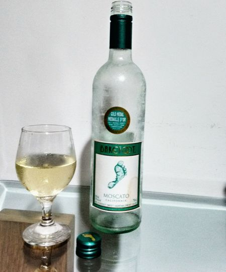 California White Wine Drinking Wine Alone...