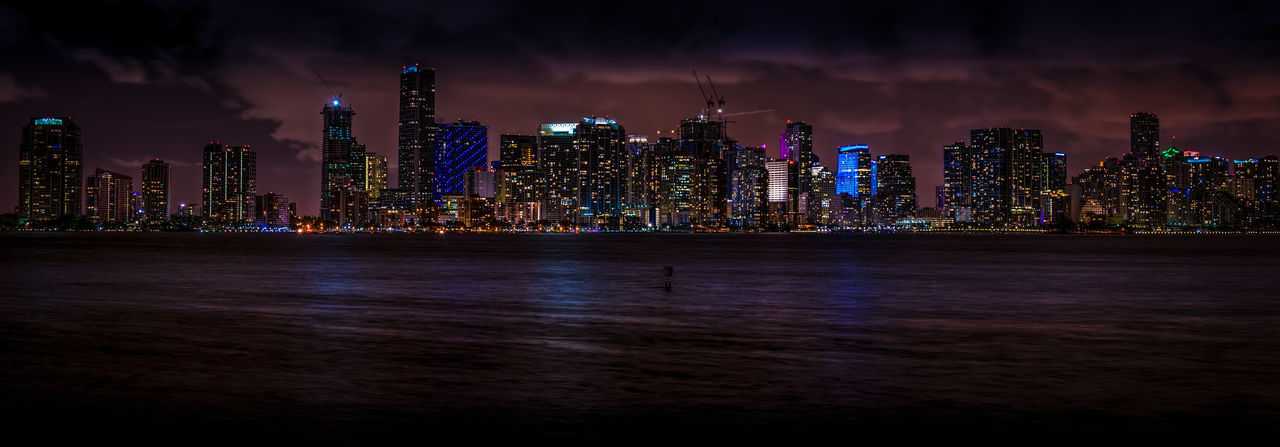 Urban Oasis Architecture Biscayne Bay City Cityscape Downtown Downtown District Miami Miami, FL Night Panorama Panoramic Photography Urban Urban Landscape Urban Skyline