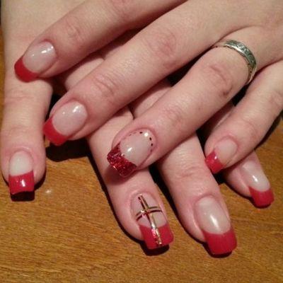 Red Christmas nails :-) Naglar Nails Christmas