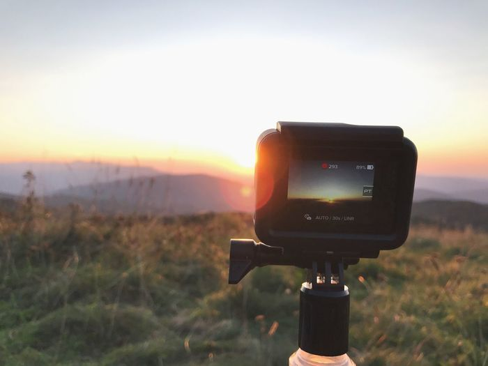 Max Patch beauty Sunset Orange Color Gopro