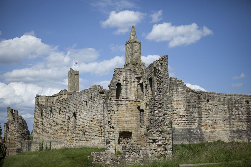 Warkworth Castle Ancient Ancient Civilization Architecture Building Exterior Built Structure Cloud - Sky Day Grass History Low Angle View No People Old Ruin Outdoors Place Of Worship Religion Sky Spirituality The Past Travel Travel Destinations