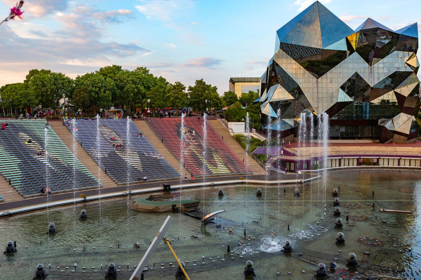 Futuroscope Theme Park Futuroscope Theme Park | Poitiers - France Futuroscope2017 Leisure Park Architecture Building Exterior Built Structure Day Large Group Of People Outdoors People Real People Sky Tree Water