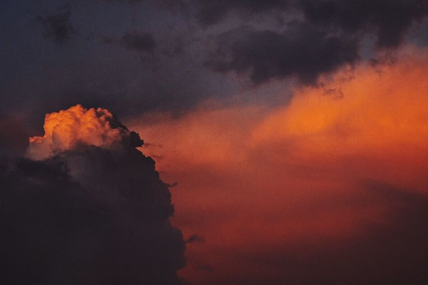 Sunset Sky Orange Color Cloud - Sky Nature No People Silhouette Outdoors Scenics Beauty In Nature Day BYOPaper!