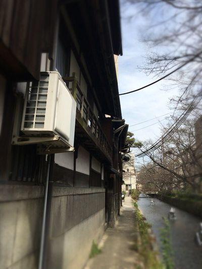 Kyoto Street Kyoto Matiya Kyoto,japan Kyoto River Side Takase River In Kyoto