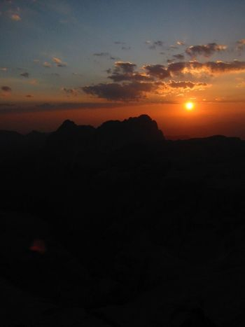 Sunset Silhouette Scenics Nature Sun Sky Mountain Tranquility No People Dolomites Sassolungo Pizboe