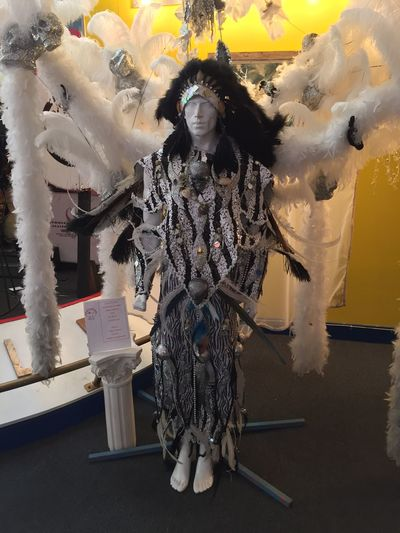 Mummers costume on display at the Mummers' Museum. ATouristInMyOwnCity Mummers OnlyInSouthPhilly