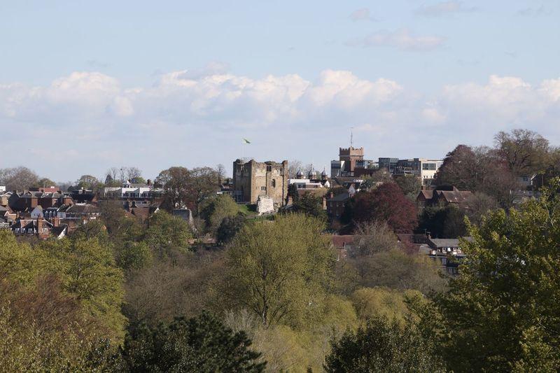 Built Structure Cloud - Sky Countryside Distance View Green Color Guildford Castle Landscape TOWNSCAPE