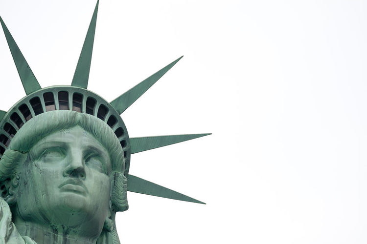 Statue Of Liberty Head Against Clear Sky
