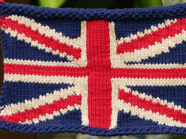 Fabric Texture Knitting Knitted Union Jack Union Jack Flag Union Jack Knitted Bunting British Flag red white and blue