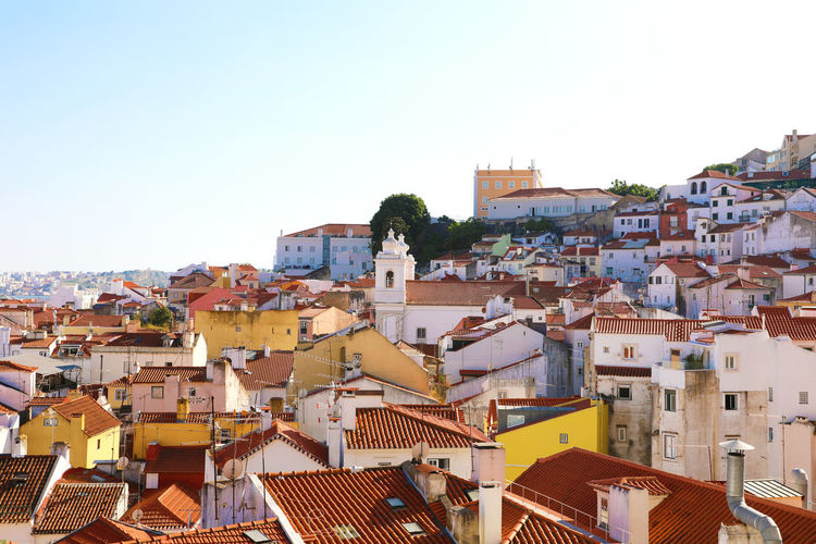 Panoramic view Lisbon roofs with church Lisboa Portugal Lisbon - Portugal Lisbon Landscape Lisbon, Portugal Architecture Building Building Exterior Built Structure Cityscape Lisbon TOWNSCAPE