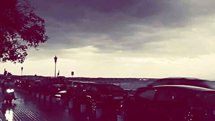 Thessaloniki Leoforos Nikis Rainy Days Rain Clouds And Sky Afternoon Thermaikos
