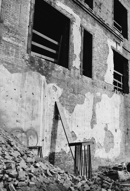 Brick Painting Graffiti Construction Building
