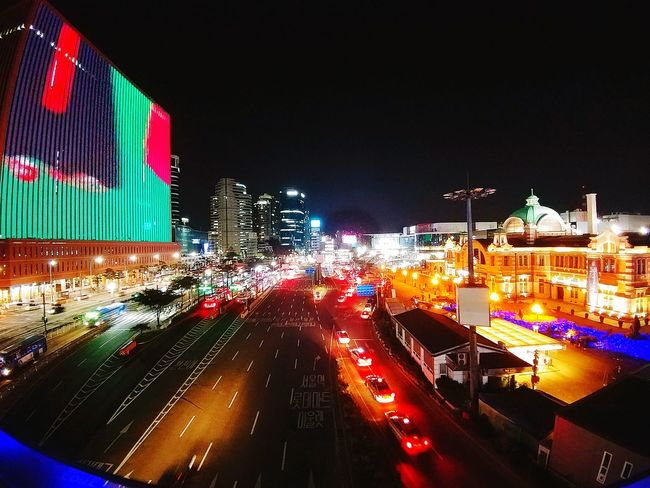 Outdoors Night Car Illuminated Arts Culture And Entertainment City Cityscape