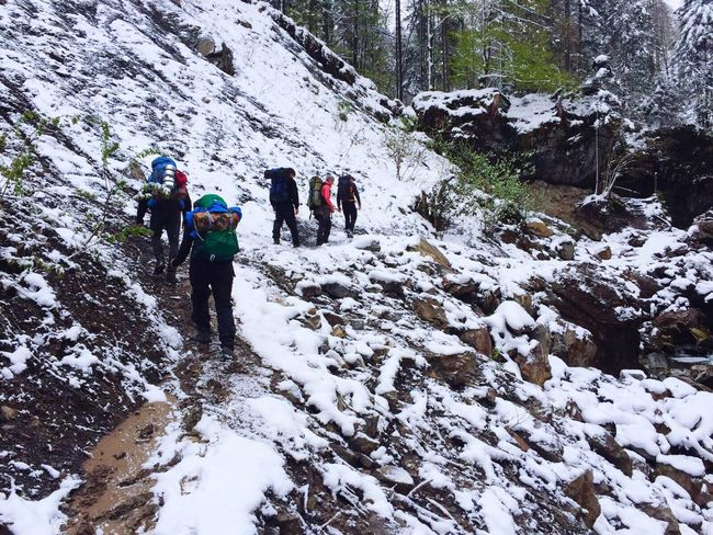 Cold Temperature Winter Snow Adventure Backpack Hiking Mountain Weather Nature Exploration Rock - Object Hiker Leisure Activity Lifestyles Real People Frozen Beauty In Nature Hiking Pole Walking Travel Blauring Jungwacht JUBLA Switzerland Glk Let's Go. Together.