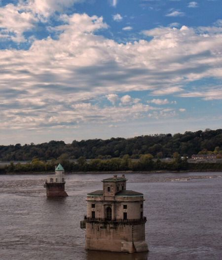 Cloud - Sky Sky Water Built Structure Architecture No People Nature Scenics Tranquility Day Beauty In Nature Outdoors Building Exterior Eyeemphotography Illinois October Mississippi River Chain Of Rocks Route 66 Rock Photography