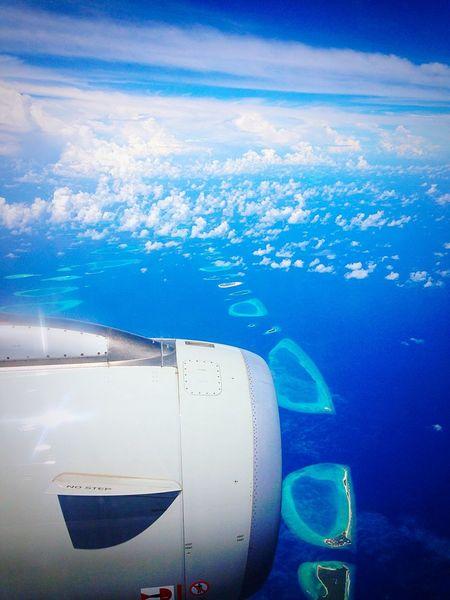 Sea Sea And Sky Atoll Iles  Maldives Holiday Sunny Day Sunny
