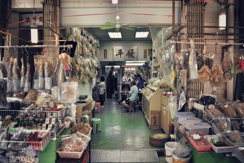 Indoors  Retail  Architecture Large Group Of People Built Structure Real People Women Men Adult People Day Supermarket Freshness Price Tag Business Food Large Group Of Objects Store For Sale Hong Kong Tai O 大澳 鹹魚