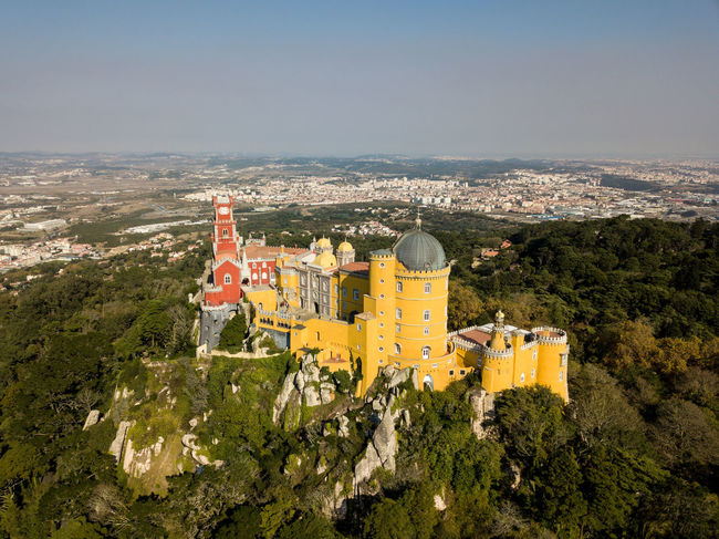 Sintra Architecture Built Structure High Angle View History No People Outdoors Travel Destinations Tree