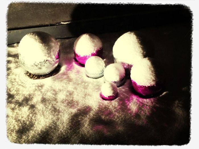 Icy Disco Balls