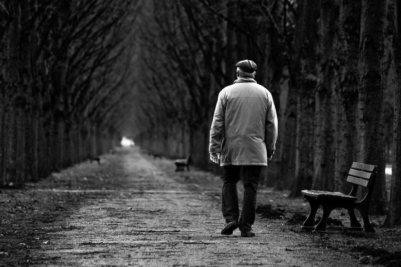 Adult Adults Only Day Full Length Men Nature One Man Only One Person Outdoors People Real People Rear View Tree Walking The Portraitist - 2018 EyeEm Awards