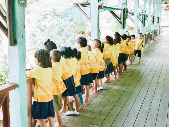 Full length of girl standing on floor