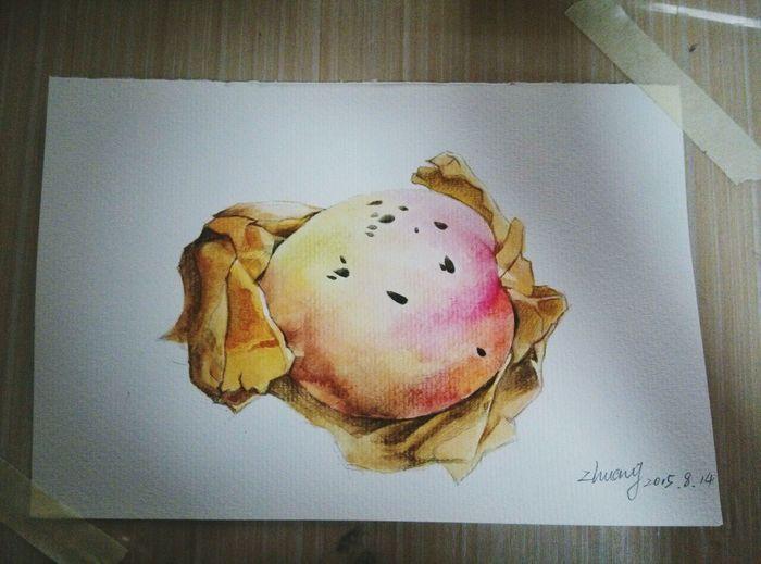 Peach Drawing Art, Drawing, Creativity