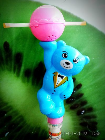 little bear play ball Toy Toys Toyphotography Toy Photography Toy Animal Bear Toy Blue Bear Clown Multi Colored Celebration Close-up Green Color