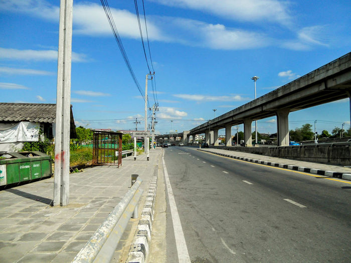 Road in Bangkok Roads In Bangkok Road Way Street Sky Bangkok Minburi Thailand Bridge City Road In City Transportation Architecture Built Structure Cloud - Sky The Way Forward Mode Of Transportation Outdoors Rail Transportation Bridge - Man Made Structure Nature Day Connection Direction Building Exterior