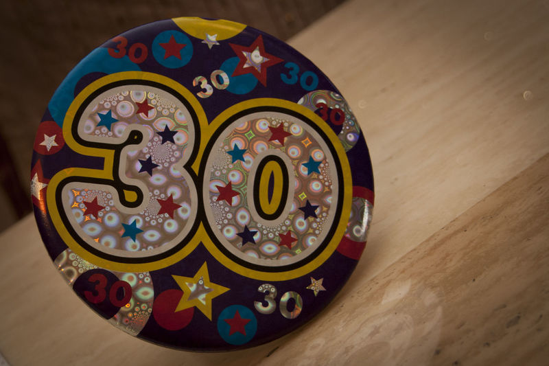 Birthday 30 Birthday Badge Happy Birthday I Used To Be 30 Bon Anniversaire
