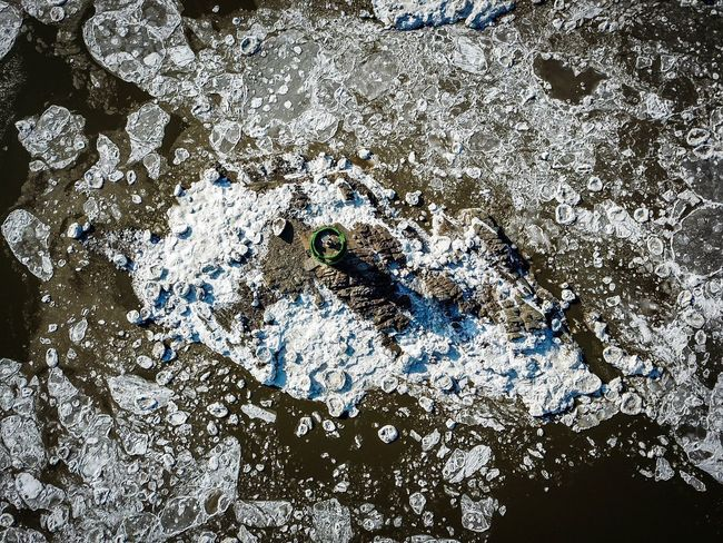 Drift ice of Choji Bridge in Kanghwa island, Korea. High Angle View Lighthouse Korea Winter Drone Photography Choji Bridge Drone Shot Ganghwa Island Sea Ice Winter Island Full Frame Pattern Close-up Backgrounds Abstract No People Outdoors Textured  Nature Water