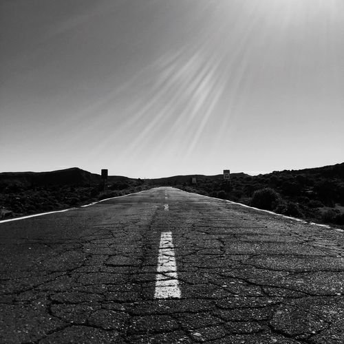 Road Against Sky On Sunny Day
